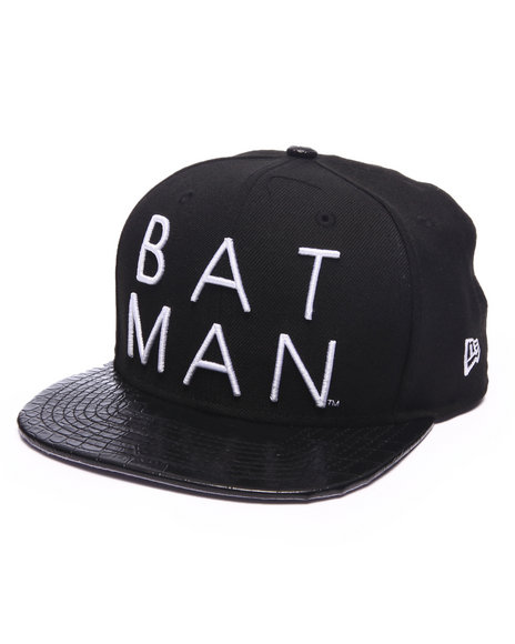 New Era Men Batman Strapback Hat Black