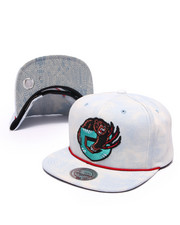 Men - Vancouver Grizzlies Lite Acid Wash Denim Snapback Hat