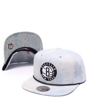 Men - Brooklyn Nets Lite Acid Wash Denim Snapback Hat