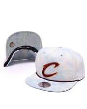 Men - Cleveland Cavaliers Lite Acid Wash Denim Snapback Hat