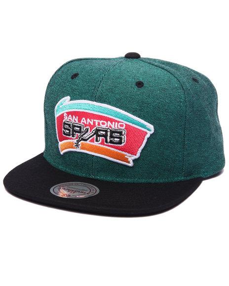 Ur-ID 223165 Mitchell & Ness - Men Green San Antonio Spurs Denim Harry 2 Tone Snapback Hat