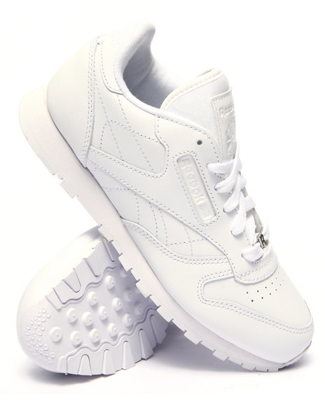 Reebok - Boys White Classic Leather Sneakers (3.5-7)