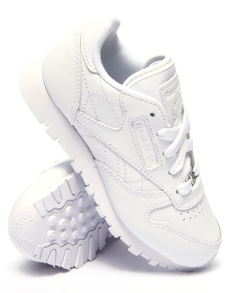 Reebok - Boys White Classic Leather Sneakers (11-3)
