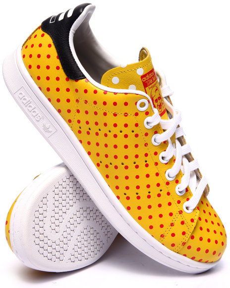 Ur-ID 217201 Adidas - Men Yellow Pharrell Williams Stan Smith S P D Tennis Shoes