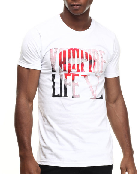 Ur-ID 217192 Vampire Life - Men White Sexy Fangs T-Shirt