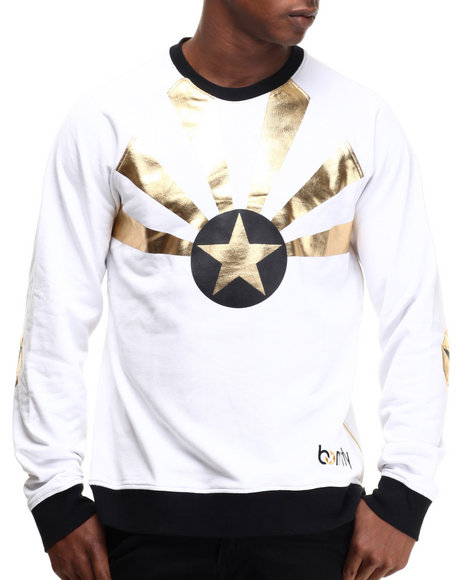 Ur-ID 217198 Born Fly - Men White Thuban Crewneck Sweatshirt