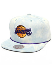 Mitchell & Ness - Los Angeles Lakers Lite Acid Wash Denim Snapback Hat