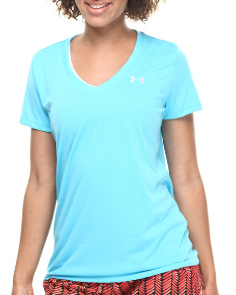 Ur-ID 217066 Under Armour - Women Blue Ua Tech Ss Tee W/Moisture Transfer System