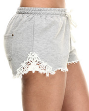 Fashion Lab - Cotton Shorts W/Lace Detail