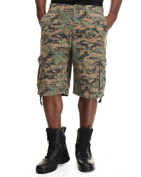 Ur-ID 217071 DRJ Army/Navy Shop - Men Camo Rothco Vintage Camo Infantry Utility Shorts