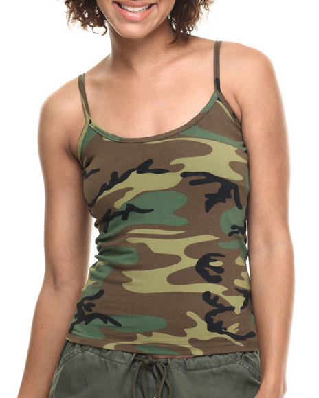 Ur-ID 217075 DRJ Army/Navy Shop - Women Camo Rothco Woodland Camo Tank Top