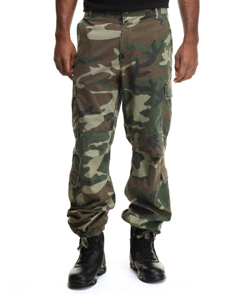 Ur-ID 217082 DRJ Army/Navy Shop - Men Camo Rothco Vintage Camo Paratrooper Fatigue Pants