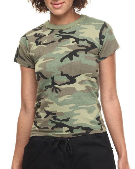 Drj Army/Navy Shop - Women Camo Rothco Vintage Camo T-Shirt