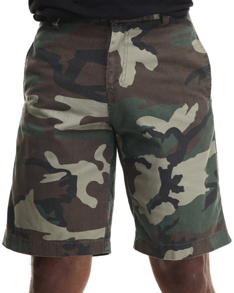 Ur-ID 217087 DRJ Army/Navy Shop - Men Camo Rothco Vintage 5 Pocket Flat Front Shorts