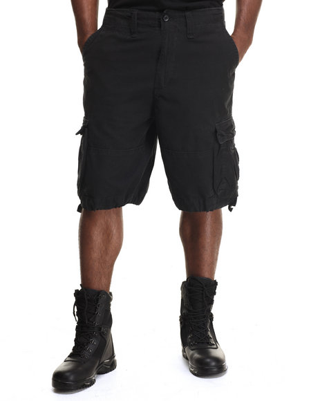 Drj Army/Navy Shop - Men Black Rothco Solid Vintage Infantry Utility Shorts