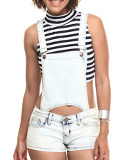 Jumpsuits - Bib Detail Short Overal