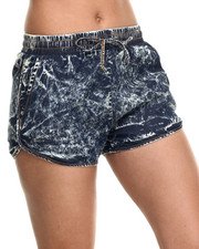 Shorts - Denim Track Shorts W/drawstring