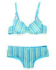 Sizes 7-16 - Big Kids - Multi Stripes Bra Short Set