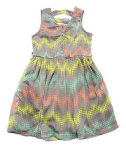 Girls - PRINTED CHIFFON DRESS (4-6X)