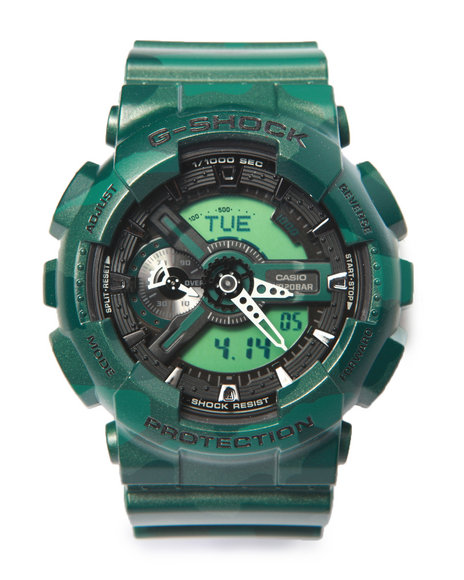 G-Shock By Casio Men Ga-110 Metallic Camouflage Watch Camo