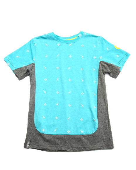 Lrg - Boys Blue Future 47 Crew Tee (8-20)