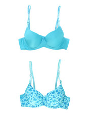 Girls - Floral/Solid 2Pk Bra Set