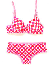 Sizes 7-16 - Big Kids - Geo Dots Bra Short Set