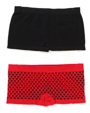 Sizes 7-16 - Big Kids - Allover Hearts 2Pk Seamless Shorts