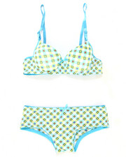 Sizes 7-16 - Big Kids - Gingham Hearts Bra Short Set