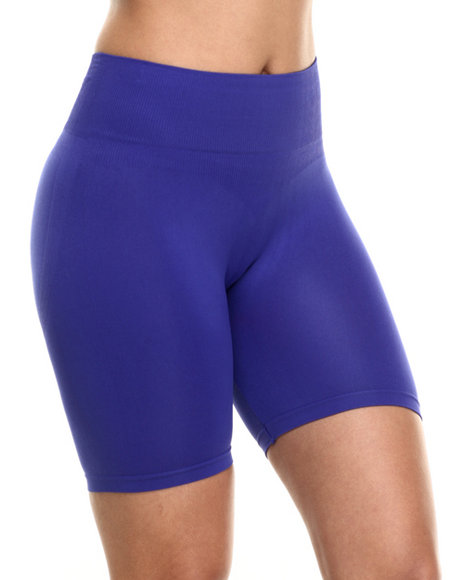 Drj Lingerie Shoppe - Women Blue Tummy Support Seamless Biker Short