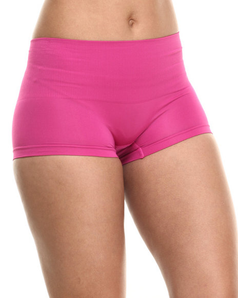 Drj Lingerie Shoppe - Women Dark Pink Tummy Support Seamless Short