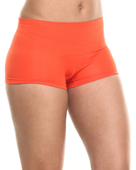Ur-ID 217215 DRJ Lingerie Shoppe - Women Orange Tummy Support Seamless Short