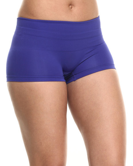 Ur-ID 217218 DRJ Lingerie Shoppe - Women Purple Tummy Support Seamless Short by DRJ Lingerie Shoppe