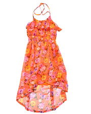 Dresses - FLORAL HALTER CHIFFON DRESS  (7-16)