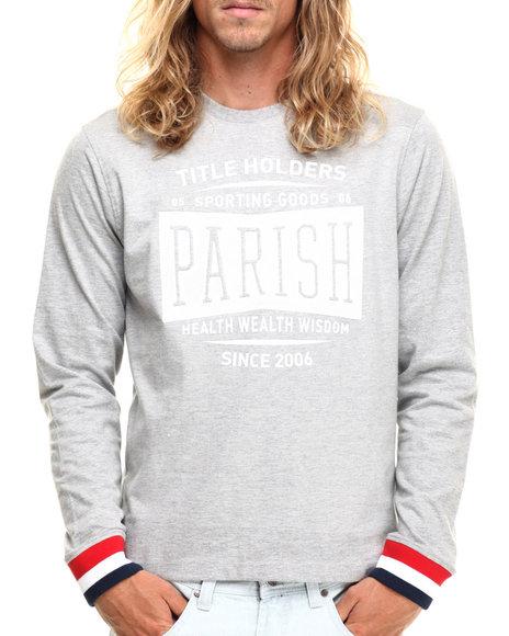 Parish - Men Grey L/S Graphic T-Shirt