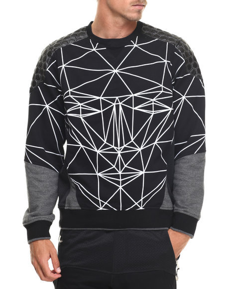 Ur-ID 217219 Allston Outfitter - Men Black Geometric Sweatshirt
