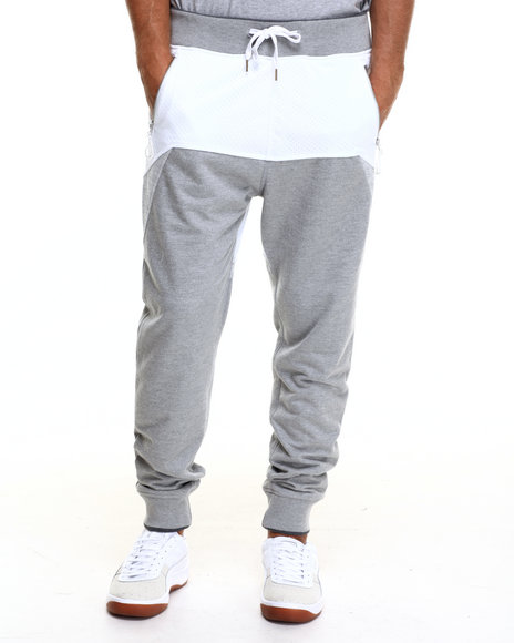 Ur-ID 217225 Allston Outfitter - Men Grey Mesh & French Terry Joggers