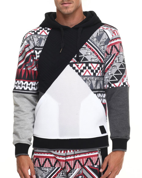 Ur-ID 217226 Allston Outfitter - Men Black Chi-Town Navajo Pullover Hoodie