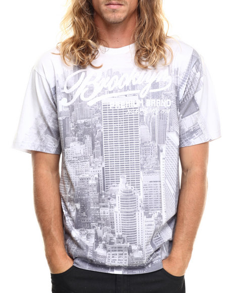 Buyers Picks - Men White Bk Skyline S/S Tee