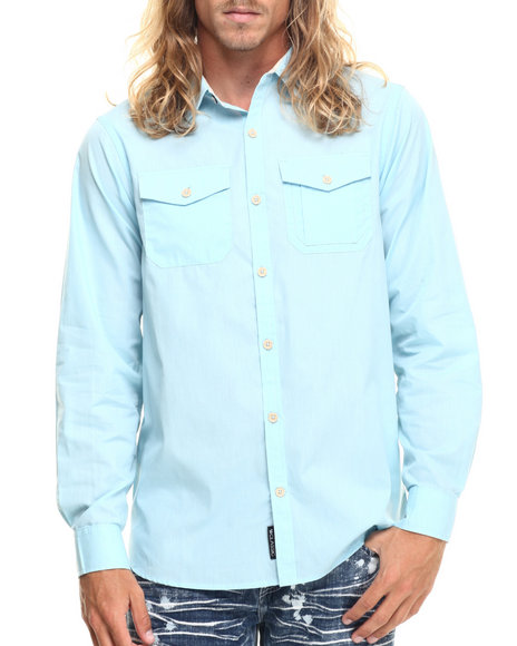 Rocawear - Men Light Blue Blueprint L/S Button-Down