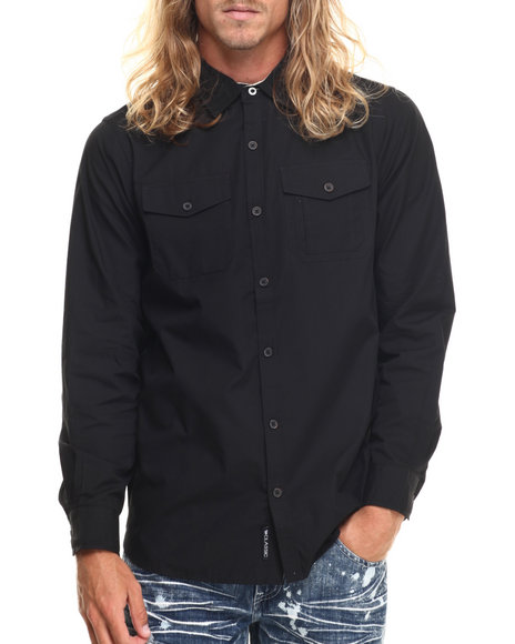 Rocawear - Men Black Blueprint L/S Button-Down