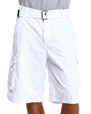 Men - Belted Basic Double pocket cargo Shorts