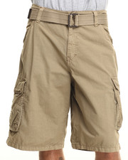 Shorts - Belted Basic Double pocket cargo Shorts