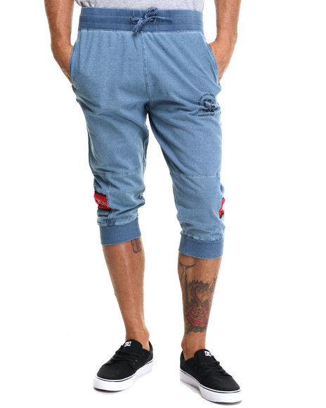 Parish - Men Blue Indigo Sweat Jogger Short - $16.99