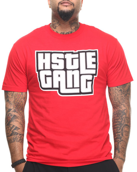 Hustle Gang - Men Red Grand Hustle Tee