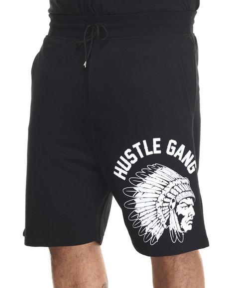 Hustle Gang - Men Black,Red Trackback Shorts