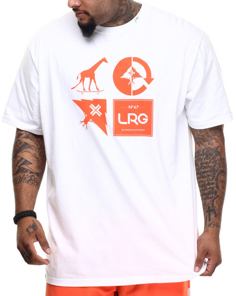 LRG - Men White Rc Logo Mash Up T-Shirt (B & T)