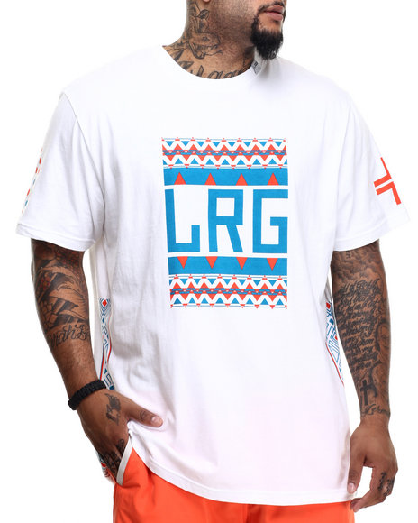 LRG - Men White Pattern Hunter Block Up T-Shirt (B & T)