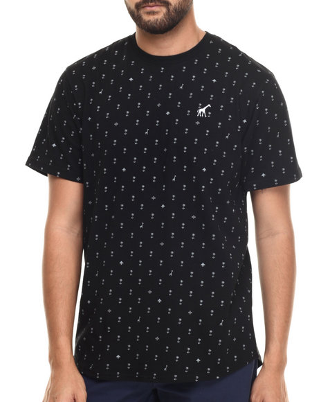LRG - Men Black Palm Grove Scoop T-Shirt