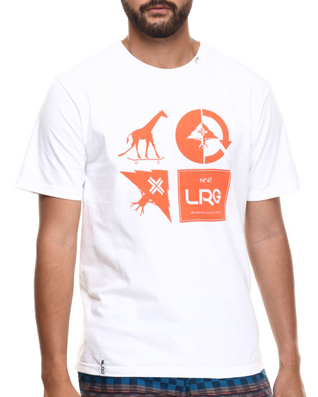 LRG - Men White Rc Logo Mash Up T-Shirt